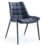 שונית כסא אירוח מעוצב שלד שחור דמוי עור מושב 45 סמ